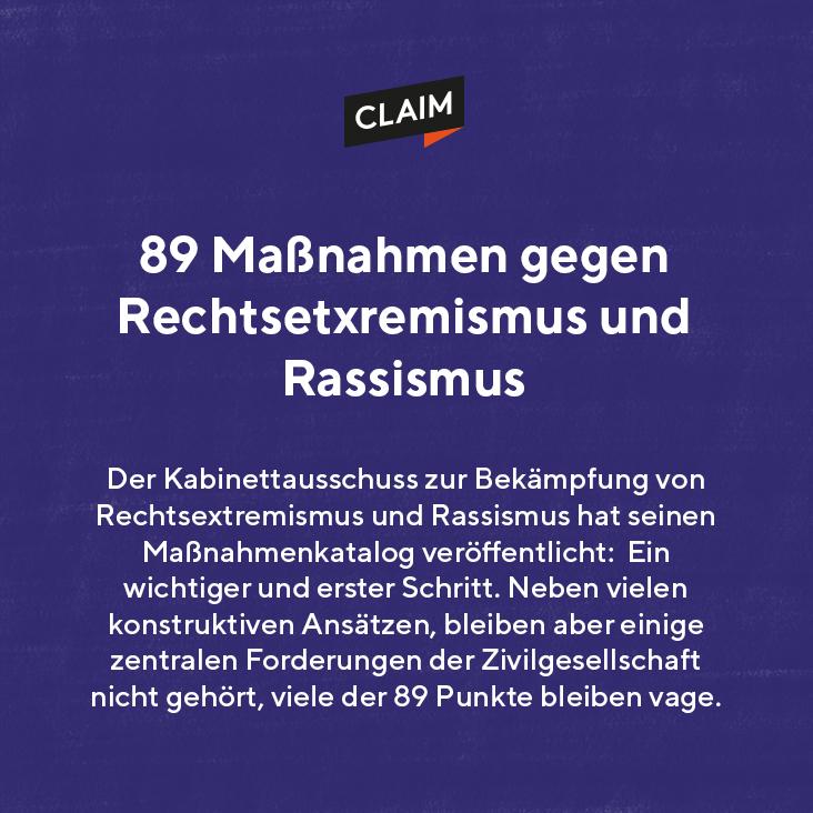 Maßnahmenkatalog gegen Rechtsextremismus und Rassismus: Erste wichtige Schritte für die Bekämpfung von Rassismus und konkret antimuslimischem Rassismus, aber viele Punkte bleiben vage
