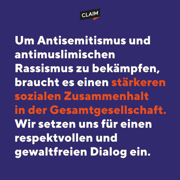 Antisemitismus und antimuslimischen Rassismus gemeinsam bekämpfen.